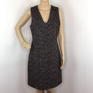 Theory Wool V-Neck Dress